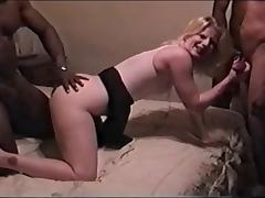 Blond Wife BBC Gangbang 1