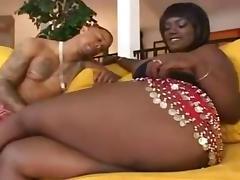 Big breasted ebony.