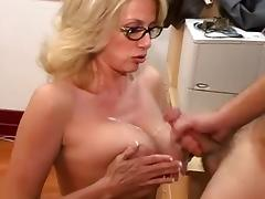 Cum on big tits compilation