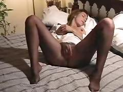 Pantyhose Masturbation After Work