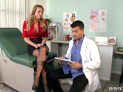 Doctor, Big Tits, Blonde, Blowjob, Boobs, Couple