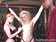 Two insatiable blond skanks share a BBC in reality video
