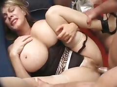 Milf hocker love to be gangbanged