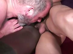 Interracial  Ebony french anal