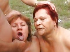 Granny, Anal, Assfucking, Blowjob, Cum, Cumshot