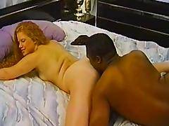 Interracial couple banging hardcore missionary style