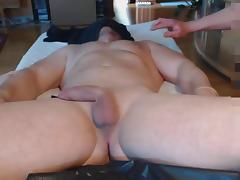 Me and a buddy milk hung bull massage prostate - post cum