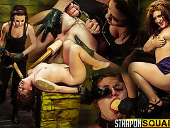 Pain Sex Slave Aryah May is Used & Wrecked by Mila Blaze & Brooklyn Daniels
