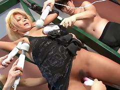 Japanese, Big Tits, Blonde, Blowjob, Facial, Femdom