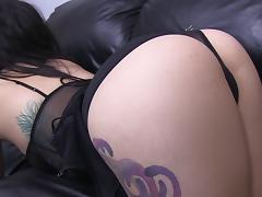 Brunette punk getting banged doggy style in pov shoot