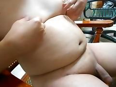 Shaved Taiwanese chub jerk-off & cum 12