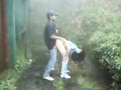 Sri Lankan couple outdoor sex