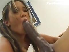 tiny girl gagging and fucking a giant cock H
