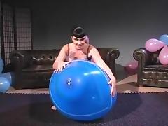 Balloon, Balloon, Brunette, Fetish, Nude, Sex