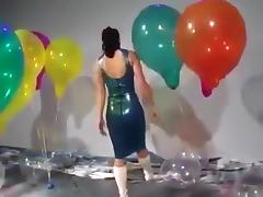 Balloon, Balloon, Dress, Elevator, Fetish, Latex
