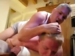 Two daddies fuck a twink boy