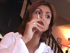 smoking in cafe