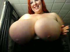 BBW Huge Titties Plays With Toy 4