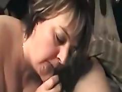 Mature BBW white girl blows my pecker on POV sex tape