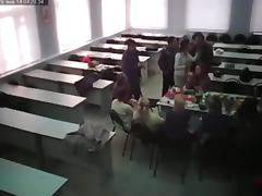Crazy students have sex in class