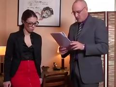secretary anal fuck in the office