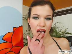 Ass Traffic Slutty brunette gets her ass fucked hard