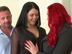 3some, Big Tits, Boobs, Brunette, Group, Orgy
