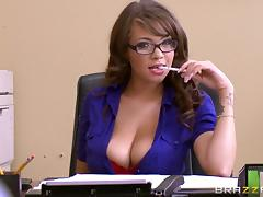 Horny colleague in glasses gets fucked hardcore in the office