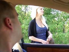 Big Cock, Big Cock, Big Tits, Blowjob, Car, Cum