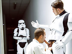 Hector De Silva, Luke Adams, Paddy O'Brian, Troopers in Star Wars 4 : A Gay XXX Parody - JizzOrgy
