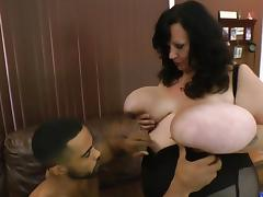 Enormous boobs getting handled