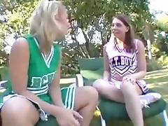 Old Dude Fucks Two Cheerleaders