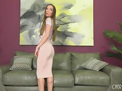Gorgeous solo Capri Anderson strips and masturbates