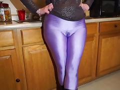 Lilac spandex leggings