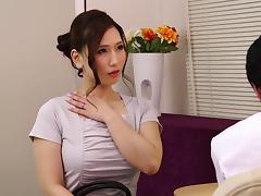 Massaging an Asian beauty and fucking her slippery pussy