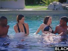 4some, Brunette, Creampie, Foursome, Fucking, Group