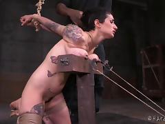 Big titties turn purple as the rope ties them so tight