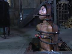 Toy fetish maiden screaming when tortured in BDSM seen