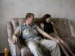 Stepdaddy Fucks His Skinny Pale Girl !