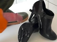 Boots, Boots, Gloves, Heels, Rubber, Shoes