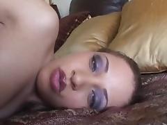 Horny pornstar Tia Sweets in hottest black and ebony, small tits adult clip