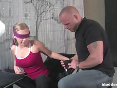 Blindfolded, Blindfolded, Couple, Curvy, Cute, Drilled
