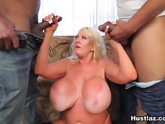 Big Tits, Big Tits, Blonde, Interracial, Mature, Stockings
