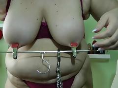 BDSM, Amateur, BDSM, Blonde, Nipples, Solo