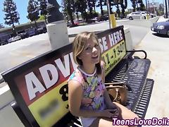 Pov teen spunked for cash