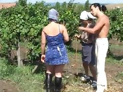 Chubby sexy chick getting fucked in the farm