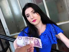 POV sex at home for money along Mia Evans