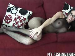 Satin, BDSM, Bodystocking, Femdom, Pantyhose, Penis