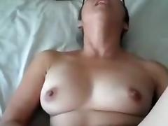 Thick wife gets a creampie orgasm after work