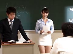 Teacher, Asian, Blowjob, Couple, Cumshot, Dirty